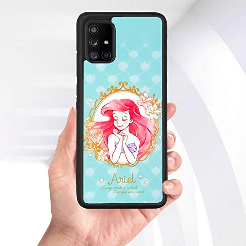 Disney Collectiondisney Collection Tire Phone Case Samsung Galaxy A71 5g Mermaid Wallpaper Shock Absorption Non Slip Durable Rubber Bumper Cover Cute Pattern Dailymail