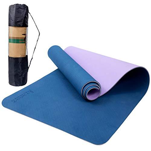 Sportmatte Rutschfest Fitnessmatte, Dreischichtige High Density TPE Joga Matten Reißfest Trainingsmatte Workout Matte für Yoga pilates, Einfach zu säubern Matte Sport für Zuhause