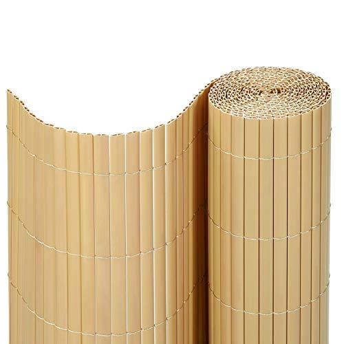 SONGMICS PVC Sichtschutzmatte (100 x 400 cm) Sichtschutz für Garten Balkon und Terrasse GPF104M
