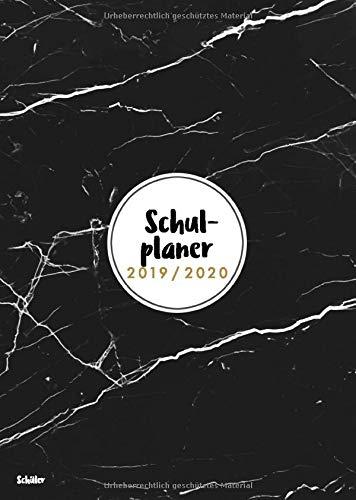 Schulplaner 2019 2020 Schüler: Gymnasial-, Schul- und Studienplaner 2019/2020, Motiv Marmor schwarz, schön & schlicht