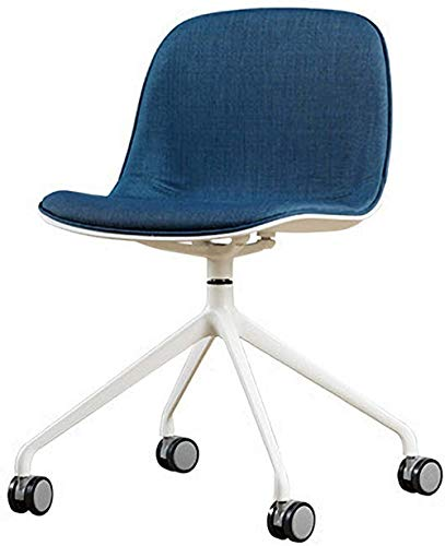 Armless 360° Swivel Ergonomic Desk Chair with Linen Lumbar Support Office Chair for Home Office Kids Study Room Furniture