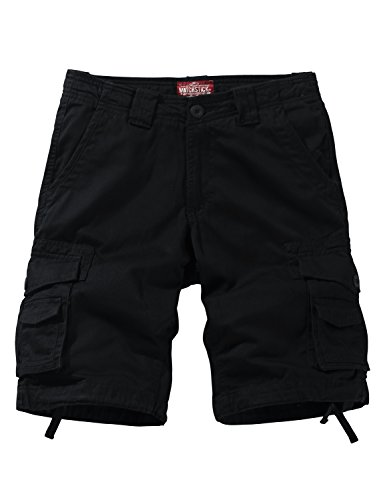 Match Men's Comfort Cargo Short (Label Size 3XL/38 (US 36), 3056 Black Gray)