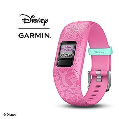 Garmin vivofit jr. 2, Kids Fitness/Activity Tracker, 1-year Battery Life, Adjustable Band, Disney Princess, Pink