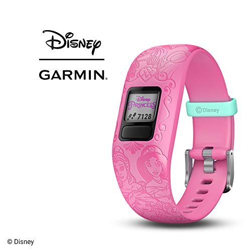 Garmin vívofit jr 2, Kids Fitness/Activity Tracker, 1-Year Battery Life, Adjustable Band, Disney Princess, Pink