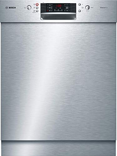 Bosch SMU46LS00E Serie 4 Geschirrspüler Unterbau / A++ / 60 cm / 262 kWh/Jahr / 13 MGD / Edelstahl / SilencePlus / 7-Segment Display / Extra Trocknen / VarioSchublade