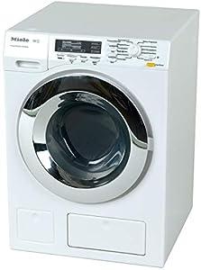 Theo Klein 6941 Lavadora Miele, Cuatro programas de lavado y sonido, Funcionamiento con y sin agua, a partir de 3 años, 18,5 cm x 26 cm x 18 cm