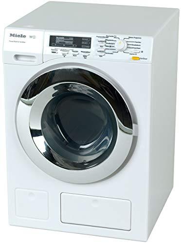 Theo Klein 6941 Miele Waschmaschine I Vier Waschprogramme und Originalgeräusche I Funktioniert mit und ohne...