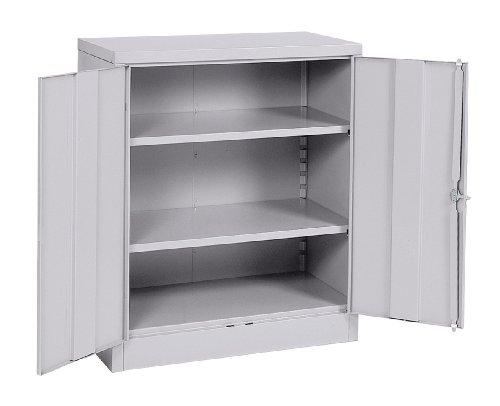 Sandusky Lee RTA7001-05 Dove Gray Steel SnapIt Counter Height Cabinet, 2 Adjustable Shelves, 42' Height x 36' Width x 18' Depth