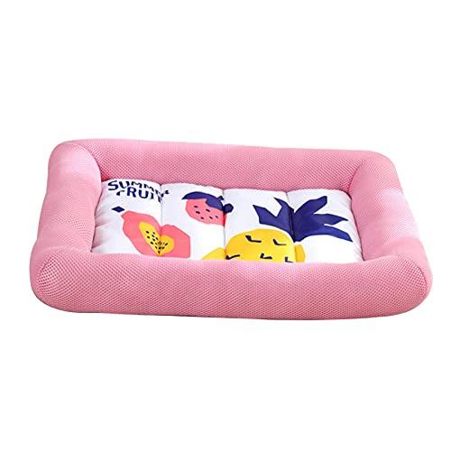 Viudecce Summer Pet Cool Pad Raffreddamento Resistente Ai Morsi Tappetino per Gatti Tappetino per Dormire Traspirante Morbido e Impermeabile Cuccia per Gatti Rosa