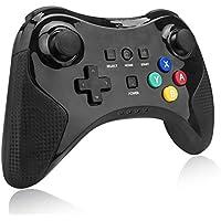 Wireless Wii U Pro Controller para Nintendo Wii, techken Wii U Pro Bluetooth controlador Negro
