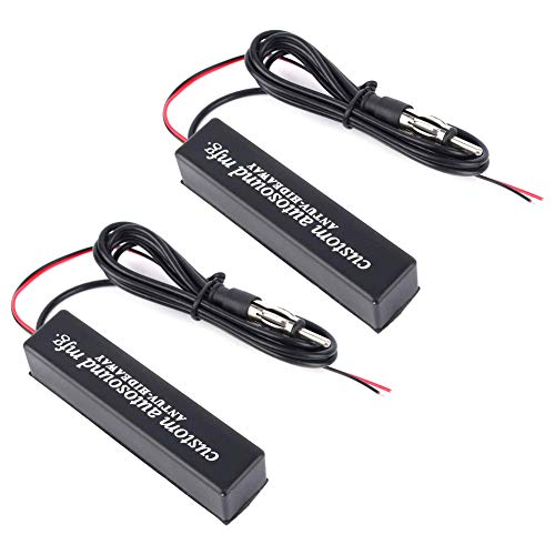 Keenso 12V Car Hidden Antenna, Universal Electronic Hidden Antenna FM AM Amplified Kit for Motor Vehicles, Golf carts, Boats, Motorcycles, ATV (1 pc)