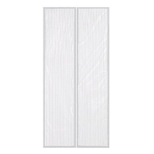 FEIGER Puerta de Malla de Manos Libres Blanca - Bolsa magnética para Cortina Anti-Mosquitos/Insectos