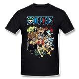 JuliaJOwens Camiseta de manga corta para hombre con estilo de una sola pieza, color negro