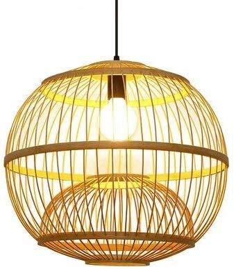 MUZIDP Sureste Asia Bambú Chandelier Rattan Lámpara Luz de Techo Lámpara Lámpara Cocina Dormitorio Restaurante E27 Hecho a Mano Bambú Lantern Bambú Mimbre Ratán Lampshade (Size : 42cm)