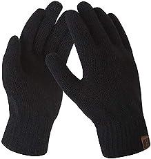 Bequemer Laden Damen Winter Warme Touchscreen Handschuhe A-schwarz