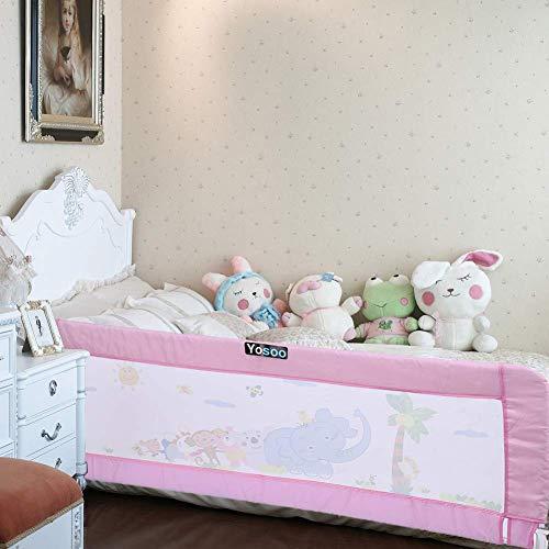 Rosa 180cm Kleinkind-Bettgitter-Schutzgitter-Kind- / Kinderschutz, der Bedrail faltet, Klappbares Bettgitter, Bettschutzgitter, Kinderbettgitter, Babybettgitter Gitter, Rausfallschutz