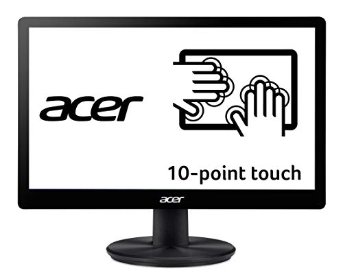 """Acer PT167Q B 15.6"""" (1366 x 768) 10 Point Touch Monitor with VisionCare Technology (VGA and USB Port)"""