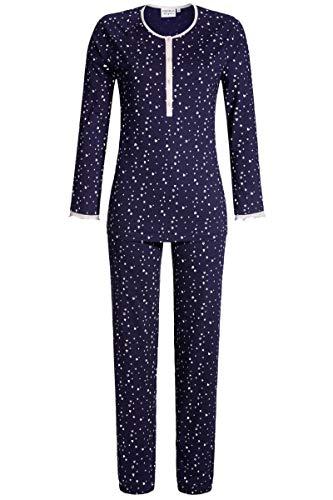 Ringella Lingerie Damen Pyjama mit Knopfleiste Night 48 0561202, Night, 48