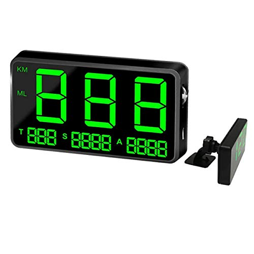 kingneed Velocímetro GPS C80 Auto HUD Head Up Display con alarma de velocidad MPH/KMH, alarma de conducción de fatiga, pantalla LED de 4,5 pulgadas para todos los vehículos, bicicletas y motocicletas