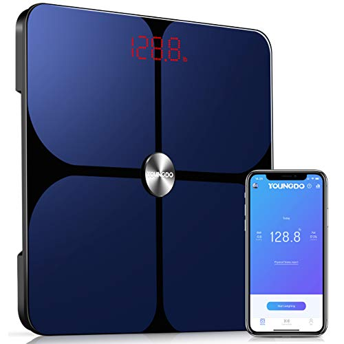 Smart Body Fat Scale, YOUNGDO Wireless Digital Bathroom...