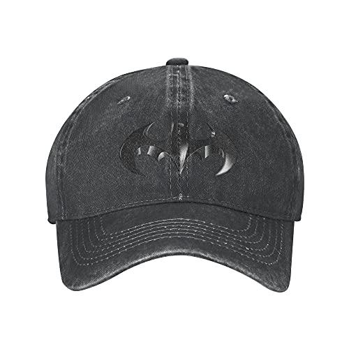 N \ A Bat-Man Adult Baseball Cap Classico Unisex Regolabile Sport Cappello Cowboy Cappello Hip Hop Cap Cap Cap picco per Uomo Donna, Nero , Taglia unica