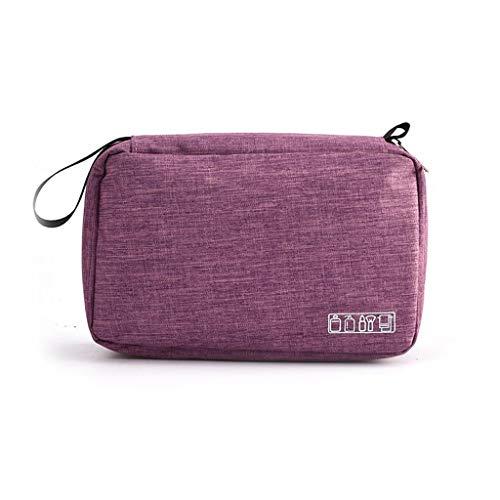 WZHZJ Bolsa de Aseo de Viaje Colgante para Hombres y Mujeres Bolsa de Maquillaje Bolsa de cosméticos Bolsa de Almacenamiento de baño Organizador de Ducha (Color : Purple)