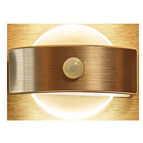 LED Wandleuchte, 3 Einzigartige Beleuchtungsmod, Wandleuchte mit Bewegungsmelder drahtlos batteriebetriebene Nachtleuchte Nachtlicht für Flur, Weg, Korridor, Hauseingang und Keller