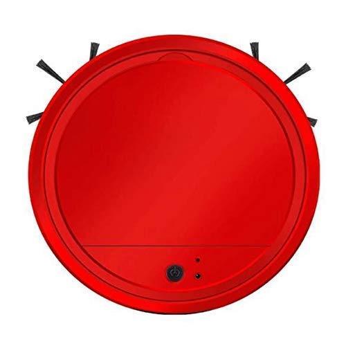 YAJIWU Piezas de repuesto Robots de barrido Delgado, Aspiradora Robótica Inteligente de Alta Succión, para el Cabello de Mascotas del Hogar, Alfombra, Rojo