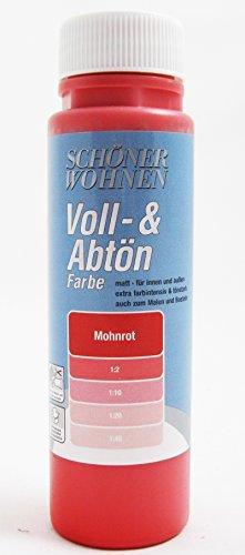 Schöner Wohnen - Voll- und Abtönfarbe mohnrot - 0,5 Liter