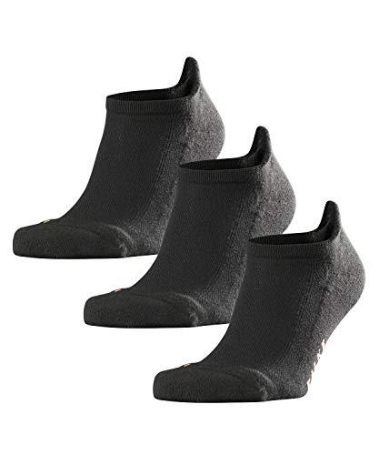 FALKE Unisex Sneakersocken Cool Kick Sneaker 3-pack - Funktionsfaser, 3 Paar, Schwarz (Black 3000), Größe: 44-45