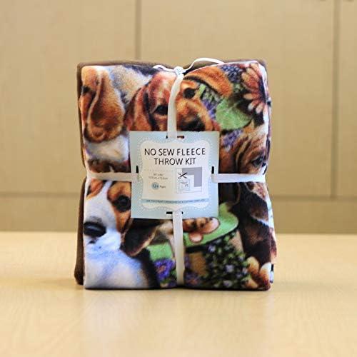 Dogs Fort Worth Mall on Anti-Pill No-Sew Throw Fleece Kit San Jose Mall Fabric 50x60