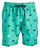 Kanu Surf Men's South Beach Quick Dry Volley Swim Trunks, Terrapin Green, Medium