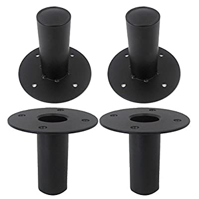 Seismic Audio - Metal-Top-Hat-4Pack - 4 Pack of Internal Top Hat Metal Speaker Pole Mounts for PA Speakers DJ Speakers from Seismic Audio