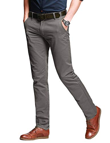 Match Men's Fit Tapered Stretchy Casual Pants (34W x 31L, 8103 Light khaki)