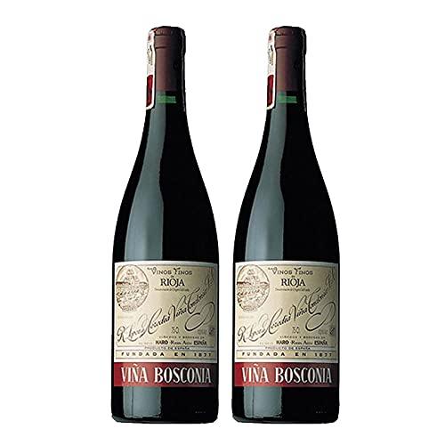 Vino tinto Viña Bosconia Reserva de 75 cl - D.O. La Rioja - Bodegas R.Lopez de Heredia (Pack de 2 botellas)