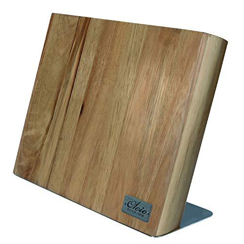 OLEIO qualitätiv hochwertiges magnetisches Messerbrett aus Akazienholz, ohne Messer