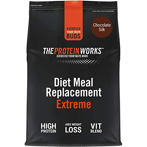 THE PROTEIN WORKS Diet Meal Replacement Extreme | Seen On This Morning ITV | Nutritionally Complete Meal | Immunity Boosting Vitamins | Just Add Water | Chocolate Silk | 1 kg