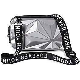 styleBREAKER Sac à bandoulière multifonctionnel pour dames, surface de prisme 3D avec fermeture éclair, sac pour…
