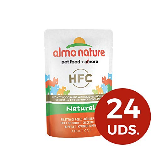 almo nature HFC Natural Wet Cat Food Pouch - Filetto di Pollo (Confezione da 24 x 55 g)