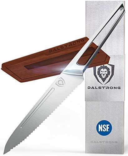 DALSTRONG - Crusader Series - Serrated Utility Knife 5.5' - Forged...
