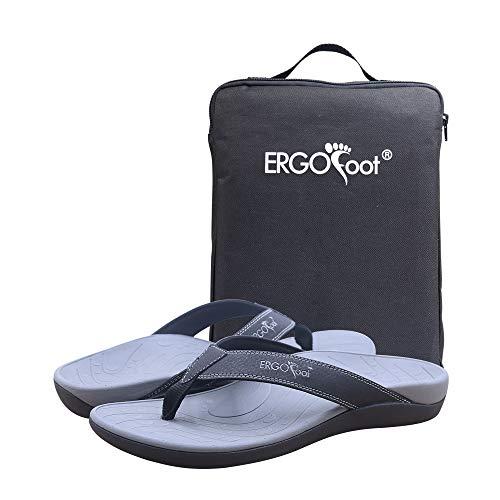 Chanclas para mujer y hombre con cómodo soporte de arco, sandalias para fascitis plantar, pies planos, zapatillas deportivas para mujer, color Negro, talla 39 EU