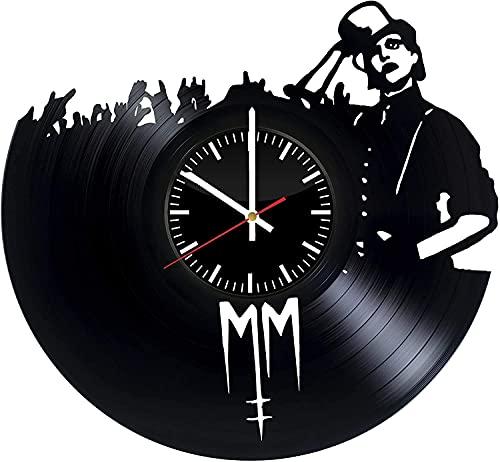 Horloge murale rétro en vinyle motif disque vinyle Marilyn Manson