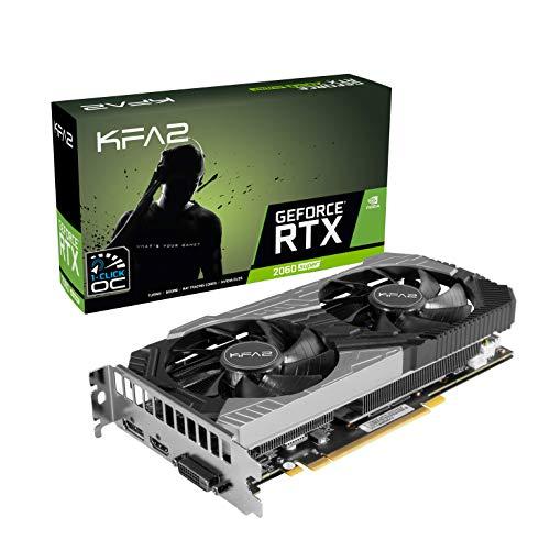 KFA2 26ISL6HP39SK nVidia GeForce RTX 2060 Super OC 8GB 256-bit GDDR6 PCIe Grafikkarte, schwarz