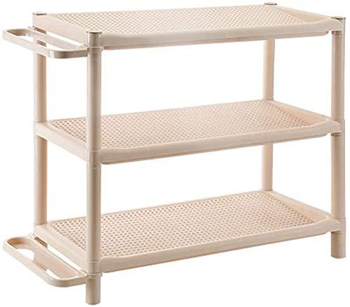 Organizador de zapatos Organizador de zapatos de plástico Rack Multi-capa Económico Zapato de zapatos, Cocina / Baño Gabinete de almacenamiento de rack para Entrada, Pasillo y Closet ( Size : S-2 )