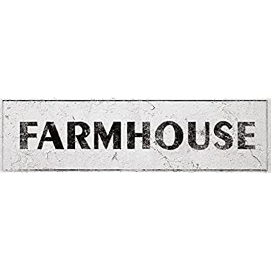 iCandy Combat Farmhouse Decorative Sign Rustic Country Kitchen with Vintage Shabby Chic On 5x18 Aluminum