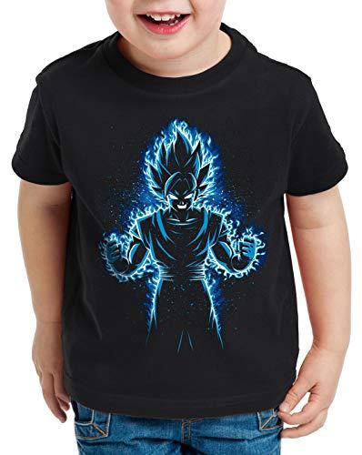 style3 Songoku Max Power T-Shirt für Kinder Turtle Ball z Roshi Dragon, Größe:140