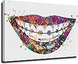VVBGL Laminas para Cuadros Impresión de Arte Dental Arte de Pared de Dientes Fila de Dientes Arte médico raíces de Dientes incisivos molares Dentista clínica Lienzo pintura40x60cm x1 Sin Marco