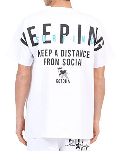[ガッチャ] GOTCHA Tシャツ ドライ バックメッセージ ロゴ Tee 212G1013 ホワイト XL