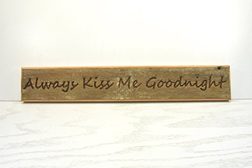 Norma Lily Kiss Me Goodnight Plakette Holz Schild Tür Topper