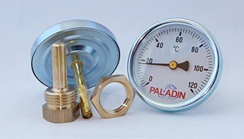 Räucherthermometer 120°C inkl. Messing-Befestigungsmutter